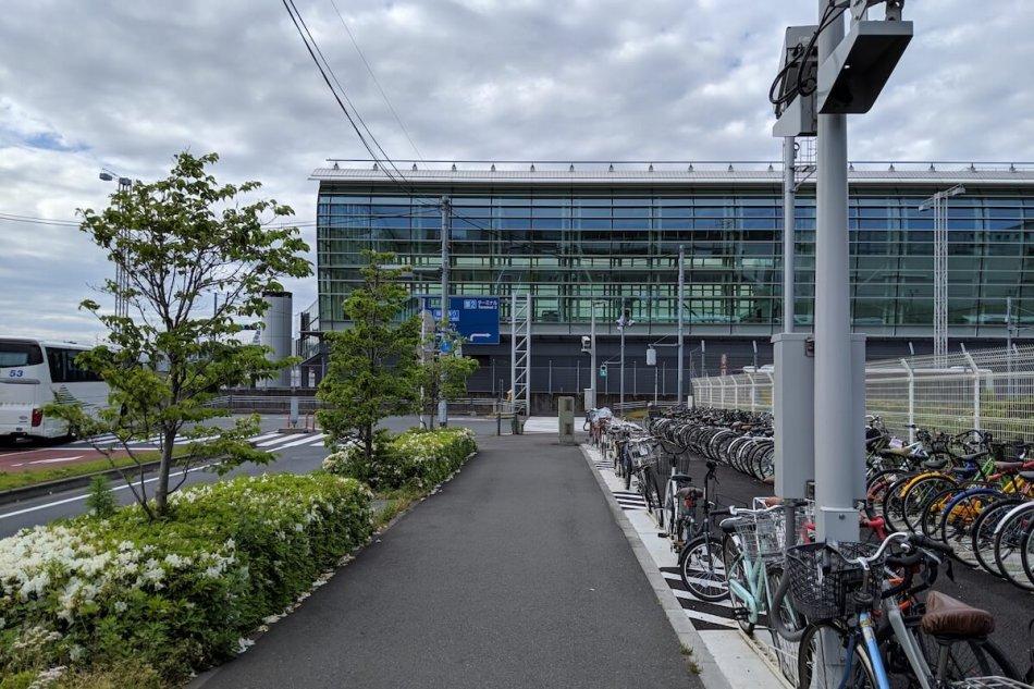 羽田空港国際線ターミナルの駐輪場2