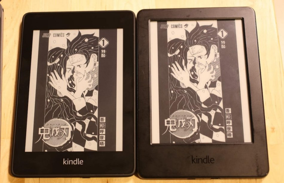 Kindle Paperwhiteと無印Kindleの解像度比較(漫画)