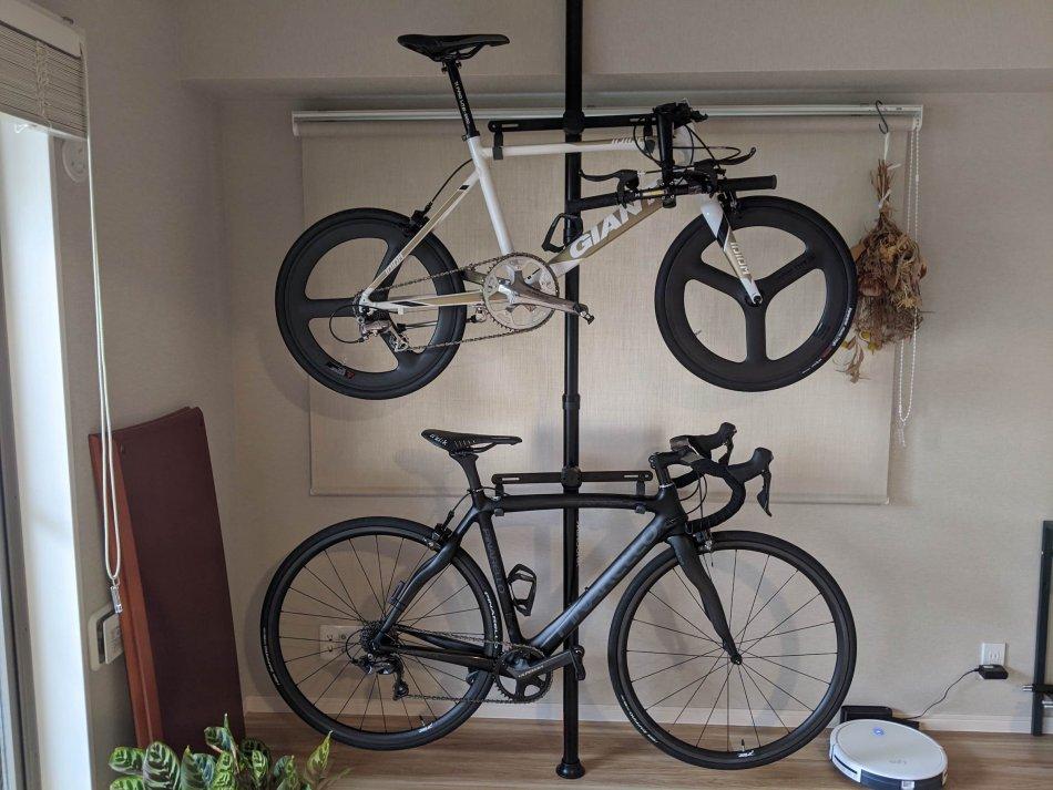 バイクタワー25Dに2台の自転車を設置