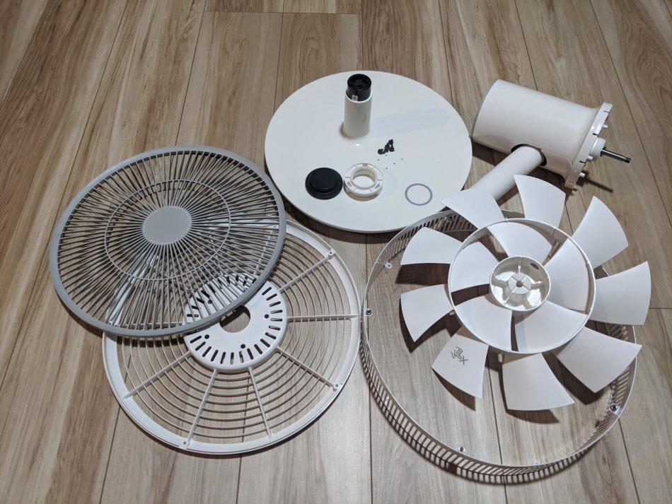 分解清掃したバルミューダの扇風機