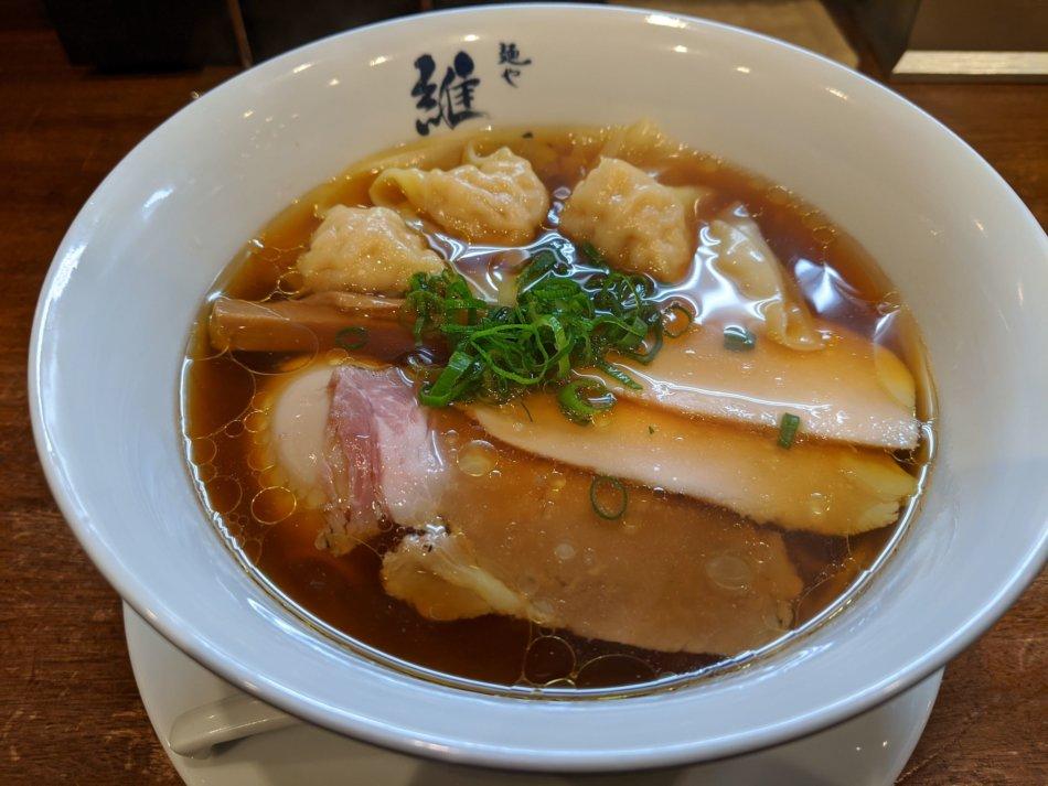 麺や 維新:特醤油らぁ麺(1,100円)