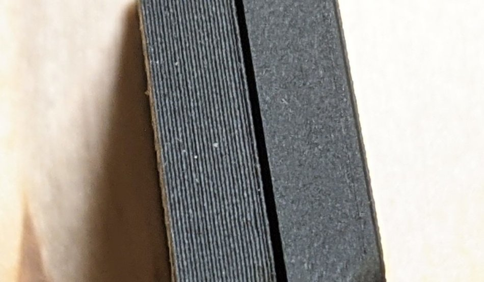 積層0.2mmと0.08mmの積層痕の比較