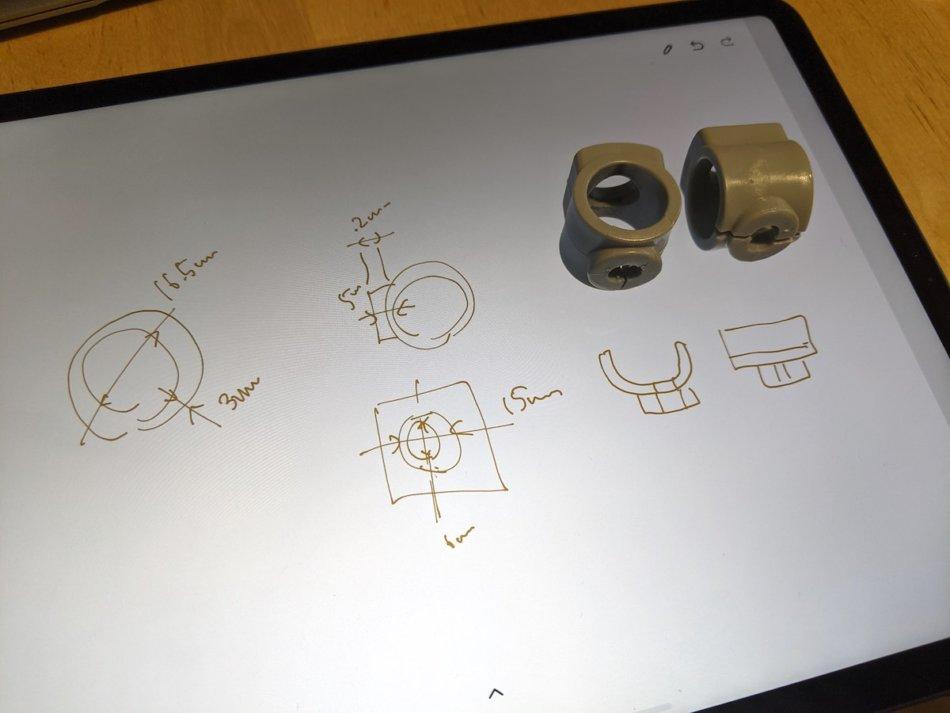 IKEAのスタッキングチェア(VILMAR)パーツの採寸